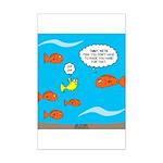 Fish Bathroom Protocol Mini Poster Print