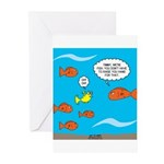 Fish Bathroom Protocol Greeting Cards (Pk of 10)