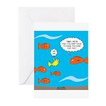 Fish Bathroom Protocol Greeting Cards (Pk of 20)
