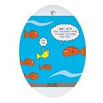 Fish Bathroom Protocol Ornament (Oval)