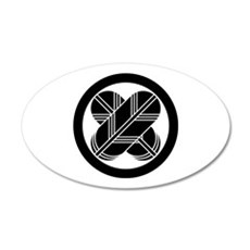 Intersecting hawk feathers in circle Wall Decal