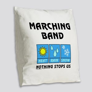 Marching Band Weather Burlap Throw Pillow