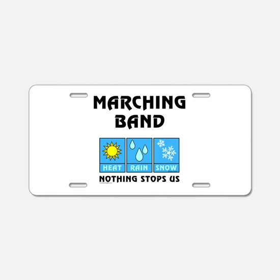 Marching Band Weather Aluminum License Plate