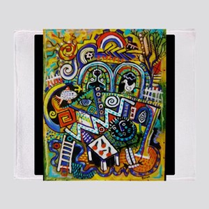Masterpiece Abstract Painting Throw Blanket