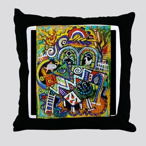 Masterpiece Abstract Painting Throw Pillow