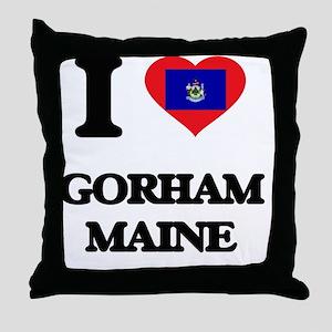 I love Gorham Maine Throw Pillow