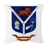 USS JESSE L. BROWN Woven Throw Pillow