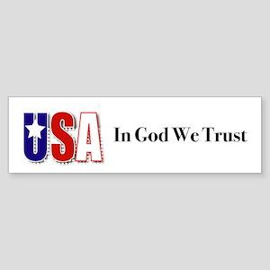 USA In God We Trust Bumper Sticker