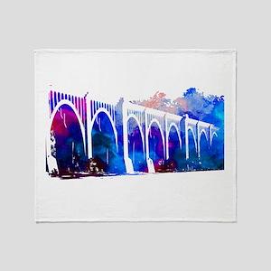 RVA Train Bridge Throw Blanket