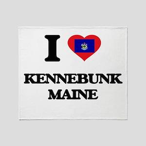 I love Kennebunk Maine Throw Blanket