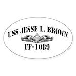 USS JESSE L. BROWN Sticker (Oval)