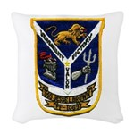 USS JESSE L. BROWN Woven Throw Pillow
