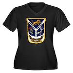 USS JESSE L. Women's Plus Size V-Neck Dark T-Shirt