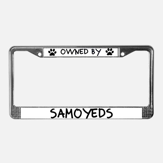 Owned by Samoyeds License Plate Frame