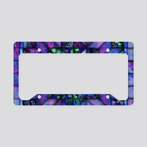 Blue Quilt License Plate Holder