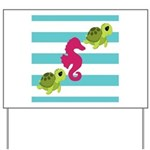 Sea Turtles Seahorse Yard Sign