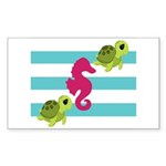 Sea Turtles Seahorse Sticker
