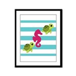 Sea Turtles Seahorse Framed Panel Print