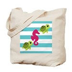 Sea Turtles Seahorse Tote Bag