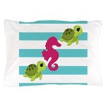 Sea Turtles Seahorse Pillow Case