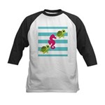 Sea Turtles Seahorse Baseball Jersey
