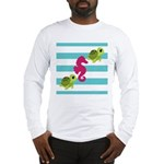 Sea Turtles Seahorse Long Sleeve T-Shirt
