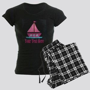 Pink Sailboat Personalizable Pajamas