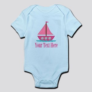 Pink Sailboat Personalizable Body Suit