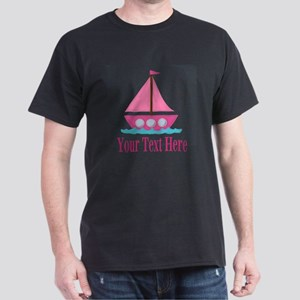 Pink Sailboat Personalizable T-Shirt