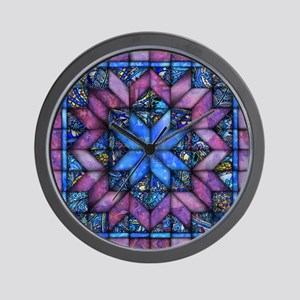 Purple Quilt Wall Clock