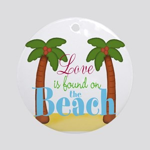 Beach Love Ornament (Round)