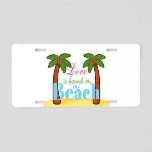 Beach Love Aluminum License Plate