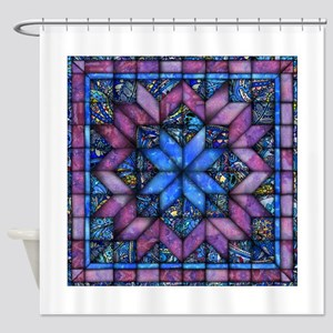 Purple Quilt Shower Curtain