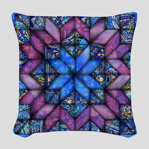 Purple Quilt Woven Throw Pillow