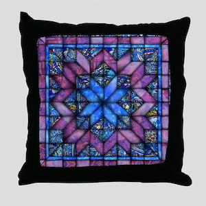 Purple Quilt Throw Pillow