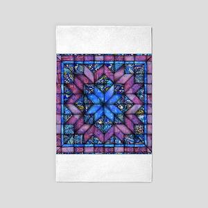Purple Quilt Area Rug