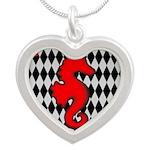Red Black Seahorse Nautical Necklaces