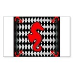 Red Black Seahorse Nautical Sticker