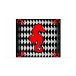 Red Black Seahorse Nautical Wall Decal