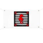 Red Black Seahorse Nautical Banner