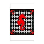 Red Black Seahorse Nautical Posters