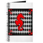 Red Black Seahorse Nautical Journal
