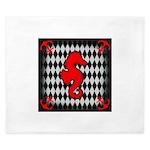 Red Black Seahorse Nautical King Duvet