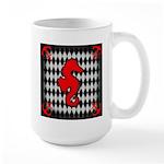 Red Black Seahorse Nautical Mugs