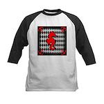 Red Black Seahorse Nautical Baseball Jersey