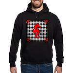 Red Black Seahorse Nautical Hoodie