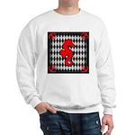 Red Black Seahorse Nautical Sweatshirt