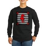 Red Black Seahorse Nautical Long Sleeve T-Shirt