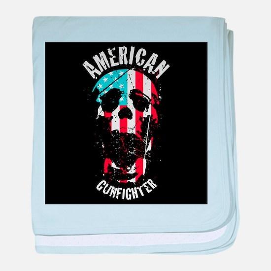 American Gunfighter baby blanket