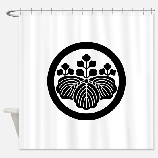 Paulownia with 5&3 blooms in circle Shower Curtain